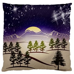Background Christmas Snow Figure Standard Flano Cushion Case (one Side)