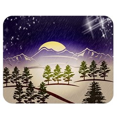 Background Christmas Snow Figure Double Sided Flano Blanket (medium)