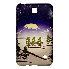 Background Christmas Snow Figure Samsung Galaxy Tab 4 (8 ) Hardshell Case
