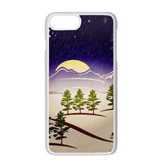 Background Christmas Snow Figure Apple Iphone 7 Plus Seamless Case (white)