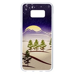 Background Christmas Snow Figure Samsung Galaxy S8 Plus White Seamless Case