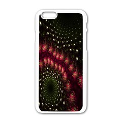 Background Texture Pattern Apple Iphone 6/6s White Enamel Case