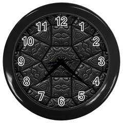 Emboss Luxury Artwork Depth Wall Clocks (black)