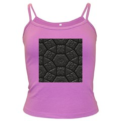 Emboss Luxury Artwork Depth Dark Spaghetti Tank
