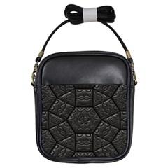Emboss Luxury Artwork Depth Girls Sling Bags