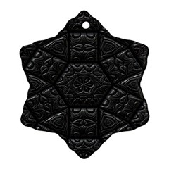 Emboss Luxury Artwork Depth Snowflake Ornament (two Sides)