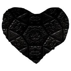Emboss Luxury Artwork Depth Large 19  Premium Heart Shape Cushions