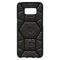 Emboss Luxury Artwork Depth Samsung Galaxy S8 Plus Black Seamless Case