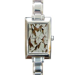 Dry Nature Pattern Background Rectangle Italian Charm Watch