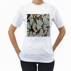 Dry Nature Pattern Background Women s T Shirt (white) (two Sided)