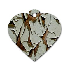 Dry Nature Pattern Background Dog Tag Heart (one Side)