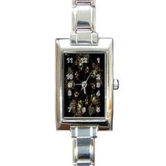 Fractal Art Digital Art Rectangle Italian Charm Watch
