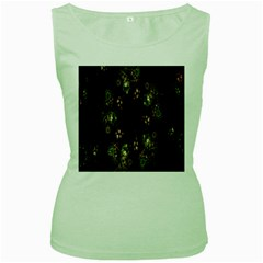 Fractal Art Digital Art Women s Green Tank Top