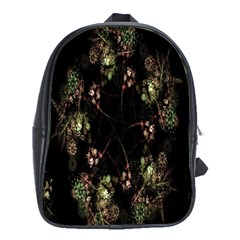 Fractal Art Digital Art School Bag (large)
