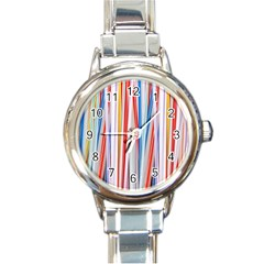 Background Decorate Colors Round Italian Charm Watch