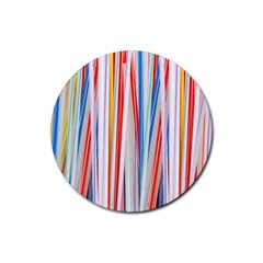 Background Decorate Colors Rubber Round Coaster (4 Pack)