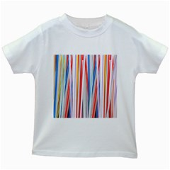 Background Decorate Colors Kids White T Shirts