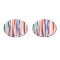 Background Decorate Colors Cufflinks (oval)