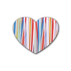 Background Decorate Colors Heart Coaster (4 Pack)
