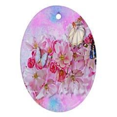 Nice Nature Flowers Plant Ornament Ornament (oval)