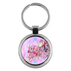 Nice Nature Flowers Plant Ornament Key Chains (round)