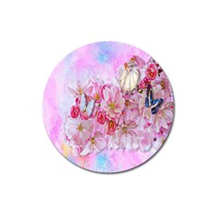 Nice Nature Flowers Plant Ornament Magnet 3  (round) by Nexatart
