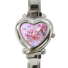 Nice Nature Flowers Plant Ornament Heart Italian Charm Watch