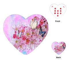 Nice Nature Flowers Plant Ornament Playing Cards (heart)  by Nexatart