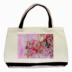 Nice Nature Flowers Plant Ornament Basic Tote Bag