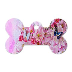 Nice Nature Flowers Plant Ornament Dog Tag Bone (one Side)