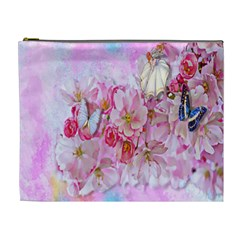 Nice Nature Flowers Plant Ornament Cosmetic Bag (xl)