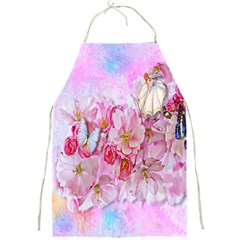 Nice Nature Flowers Plant Ornament Full Print Aprons