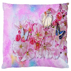Nice Nature Flowers Plant Ornament Large Cushion Case (one Side)