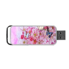 Nice Nature Flowers Plant Ornament Portable Usb Flash (two Sides) by Nexatart