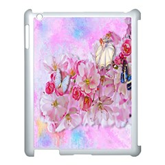 Nice Nature Flowers Plant Ornament Apple Ipad 3/4 Case (white)