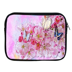 Nice Nature Flowers Plant Ornament Apple Ipad 2/3/4 Zipper Cases