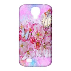 Nice Nature Flowers Plant Ornament Samsung Galaxy S4 Classic Hardshell Case (pc+silicone)