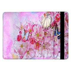 Nice Nature Flowers Plant Ornament Samsung Galaxy Tab Pro 12 2  Flip Case