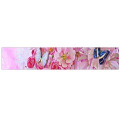 Nice Nature Flowers Plant Ornament Large Flano Scarf