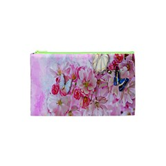 Nice Nature Flowers Plant Ornament Cosmetic Bag (xs)