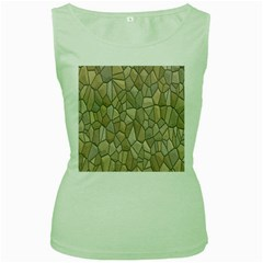 Tile Steinplatte Texture Women s Green Tank Top