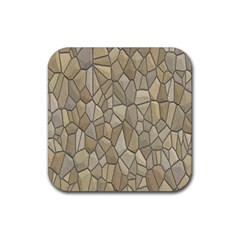 Tile Steinplatte Texture Rubber Square Coaster (4 Pack)