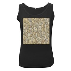 Tile Steinplatte Texture Women s Black Tank Top