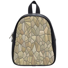 Tile Steinplatte Texture School Bag (small)