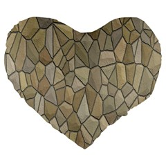 Tile Steinplatte Texture Large 19  Premium Flano Heart Shape Cushions