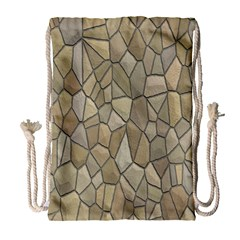 Tile Steinplatte Texture Drawstring Bag (large) by Nexatart