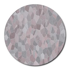 Pattern Mosaic Form Geometric Round Mousepads by Nexatart
