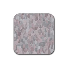 Pattern Mosaic Form Geometric Rubber Coaster (square)