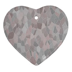 Pattern Mosaic Form Geometric Heart Ornament (two Sides)