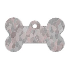 Pattern Mosaic Form Geometric Dog Tag Bone (two Sides)